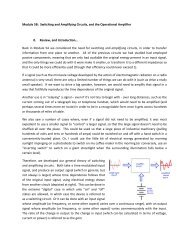 Module 5B: Switching and Amplifying Circuits, and the Operational ...