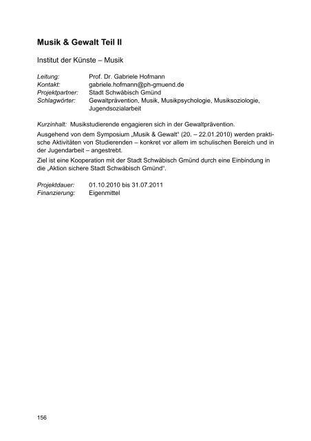 Forschungsbericht 2008 - Pädagogische Hochschule - Schwäbisch ...