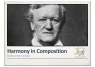 Harmony in Composition (Slides for notes) - The Grange School Blogs