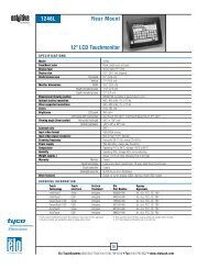 Elo Entuitive Model 1246L Kiosk LCD Rear Mount ... - Tek Solutions