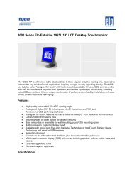 Elo Entuitive Model 1925L LCD Touchmonitor ... - Tek Solutions