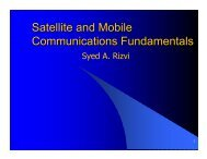 Satellite and Mobile Communications Fundamentals