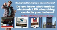 electronic LED advertising - Tek Solutions
