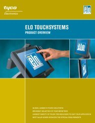 Elo Product Overview Brochure - Tek Solutions