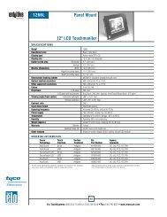 Elo Entuitive Model 1266L Kiosk LCD Panel Mount ... - Tek Solutions