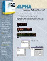 Alpha Marquee ActiveX Control Product Brochure - Tek Solutions