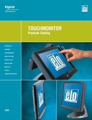 Elo U.S. Touchmonitor Catalog - Tek Solutions