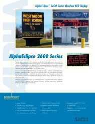 AlphaEclipse™ 2600 Series Outdoor LED Display - Tek Solutions