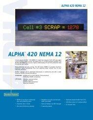 Alpha 420 Nema 12 Product Brochure (PDF file ... - Tek Solutions