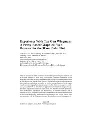 A Proxy-Based Graphical Web Browser for the 3Com ... - CiteSeer
