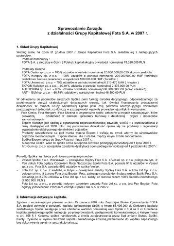 Korekta Sprawozdanie Zarządu z działalności Grupy ... - Fota