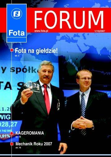 Fota Forum 1(19)/2007