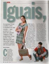 Iguais, jamais Revista Veja Especial Mulher Junho 2008 - OPEE