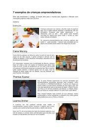 7 exemplos de crianças empreendedoras Exame São Paulo ... - OPEE