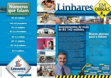 jornal de obras - pág 1-8 e 2-7 - Linhares