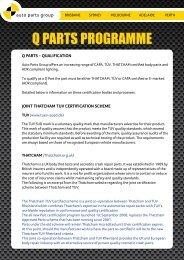 Q PARTS PROGRAMME - Auto Parts Group