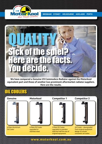 Sick of the spiel? Here are the facts. You decide. - Auto Parts Group