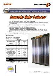 Philippine Industrial Solar Collectors SUNPUR