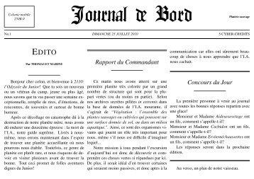 Rapport du Commandant Concours du Jour - a2m2.ch