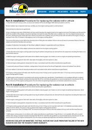 Part B: Installation Procedures For Replacing The ... - Auto Parts Group