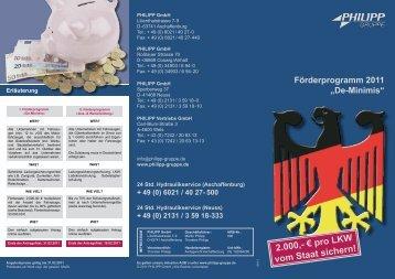 2.000,- € pro LKW vom Staat sichern! - PHILIPP Gruppe
