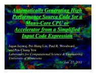 Automatically Generating High Performance Source Code for ... - ICCS