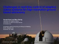 Challenges in real-time control of adaptive optics systems for ... - ICCS