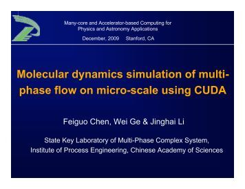 Molecular dynamics simulation of multi-phase flow on micro ... - ICCS