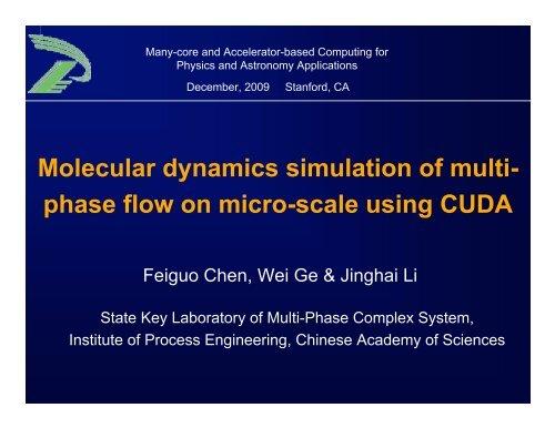 Molecular dynamics simulation of multi-phase flow on micro