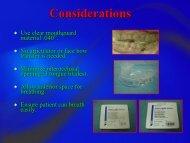 Considerations - South Carolina Dental Hygiene Association