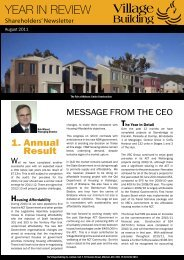 Year in Review 2011 - Village Building