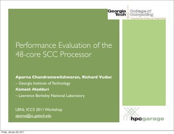 Performance Evaluation of the 48-core Single Chip Cloud ... - ICCS