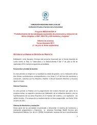 Informe Trimestral. Julio a septiembre de 2011 - Proyecto - Funsalud