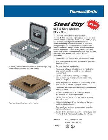 Steel city 665 cast iron floor box for Steel city floor boxes