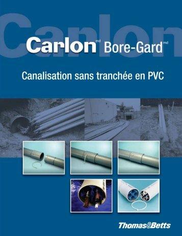 Canalisation sans tranchée en PVC