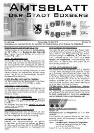 Amtsblatt vom Donnerstag, den 19. April 2012, Nummer - Boxberg