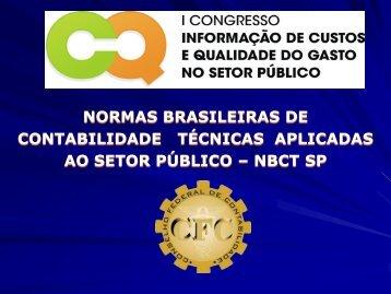 normas brasileiras de contabilidade - Tesouro Nacional - Ministério ...