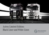 Actros Limited Edition: Black Liner und White Liner.