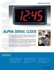 Alpha Serial Clock - Tek Solutions