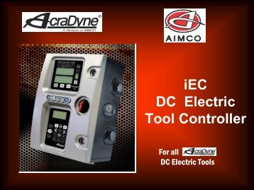iEC DC Electric Tool Controller Acradyne® - Catalogue - techsystem
