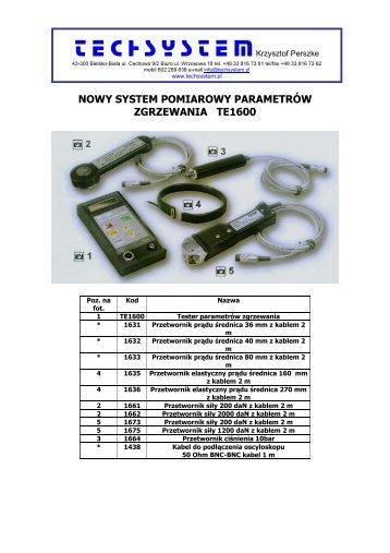 Katalog w pdf (format: pdf, wielkość: 255 KB) - techsystem