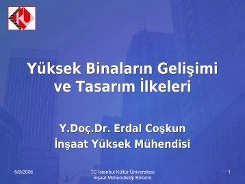 Yüksek Yapılar-Seminer - İstanbul Kültür Üniversitesi