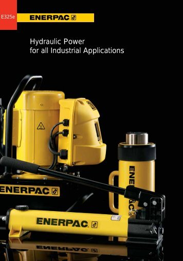 ENERPAC hydraulics Catalogue in pdf - techsystem