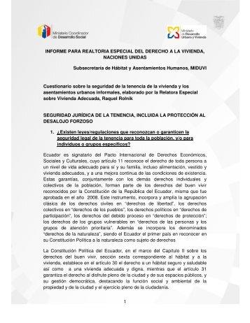 1 INFORME PARA REALTORIA ESPECIAL DEL DERECHO A LA ...