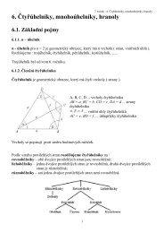 6. Čtyřúhelníky, mnohoúhelníky, hranoly