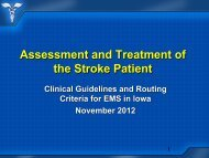 Assessment and Treatment of the Stroke Patient - Iowa Healthcare ...