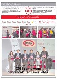 Hayat Matematiktir Gazetesi 2011 - OYAK Çimento Grubu