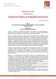 Constitución de la Republica Dominicana - Estrucplan