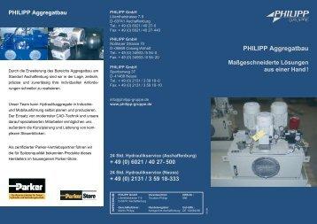 PHILIPP Aggregatbau - PHILIPP Gruppe
