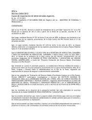 Decreto 2684-2012 - Ministerio de Agricultura, Ganadería y Pesca